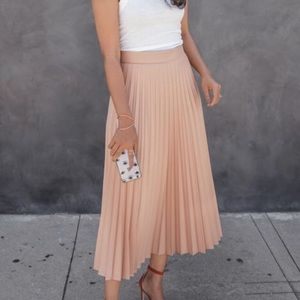 Zara pleated midi skirt